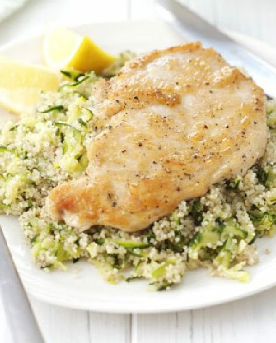 Low FODMAP Recipe and Gluten Free Recipe - Lemon chicken with olive quinoa http://www.ibssano.com/low_fodmap_recipe_lemon_chicken_with_olive_quinoa.html