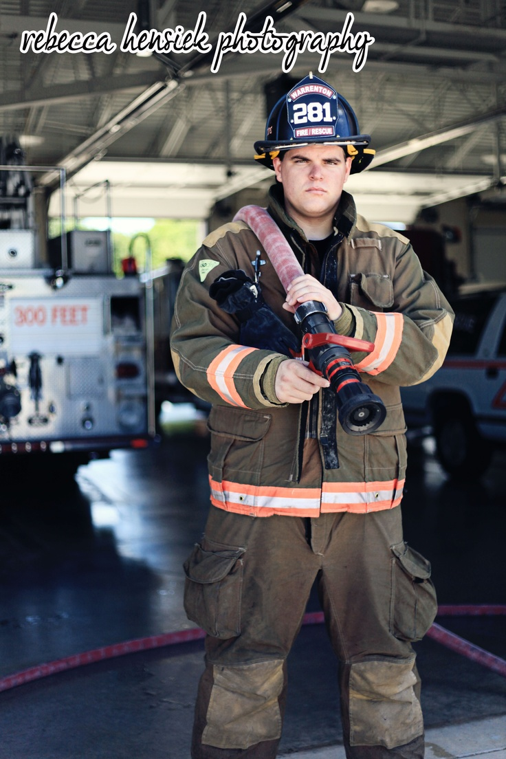 #firefighter #enviromental #firedepartment #portrait #photo #photography #uniform #pose #rhcaptures #rebeccahensiekphotography