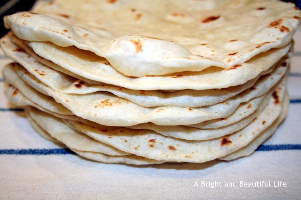 Homemade Flour Tortillas: A Bright And Beautiful Life