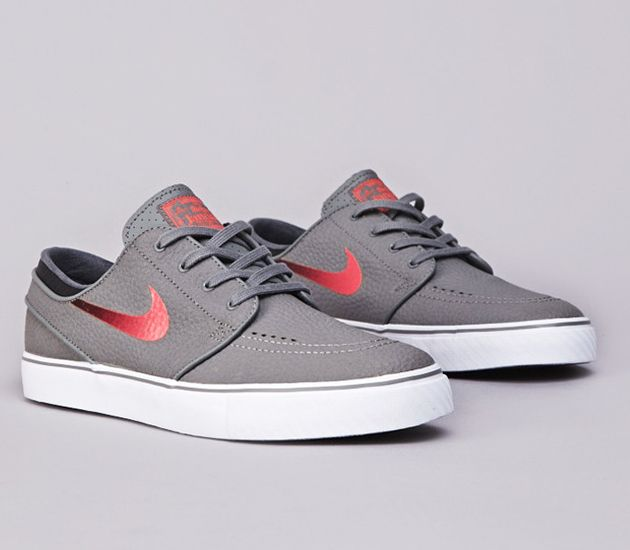 Nike SB Stefan Janoski Low - Medium Base Grey / Laser Cromson - Black