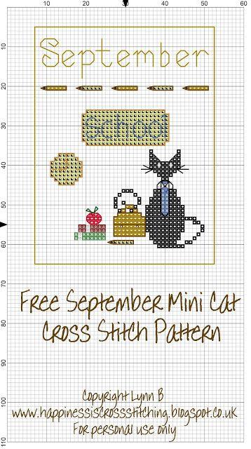 Happiness is Cross Stitching : Mini Cat Cross Stitch Freebies                                                                                                                                                      More