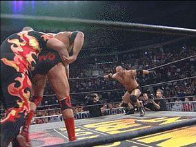 Goldberg spears Scott Hall and Bam Bam Bigelow