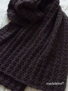 かぎ針編みのストール・編み図 |madeleine's blog もっと見る