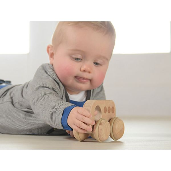 100% natural and eco-friendly wooden toy bus made of sustainable European beech. Absolutely free or paint, stains and glue. Bus is made in perfect size and rounded edges for little hands to grasp and play with.