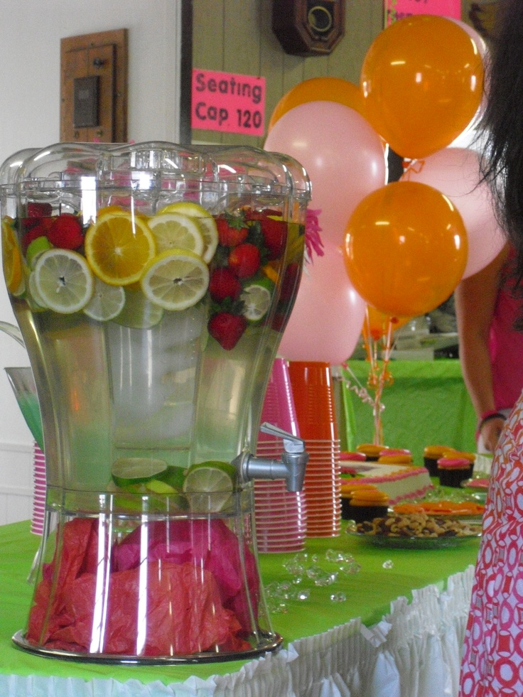 Fresh Fruit Water With Lots Of Colour Party Ideas