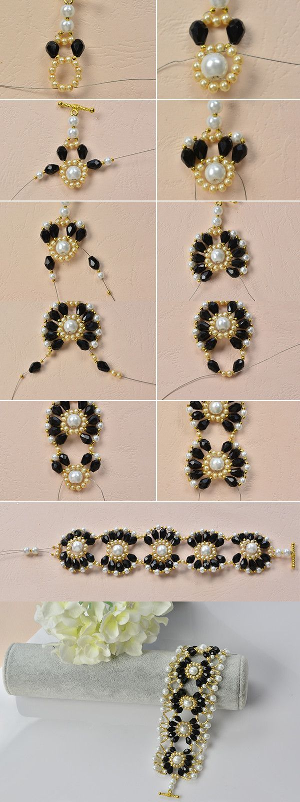flower beaded bracelet, beautiful, right? Then LC.Pandahall.com will tell you the making details