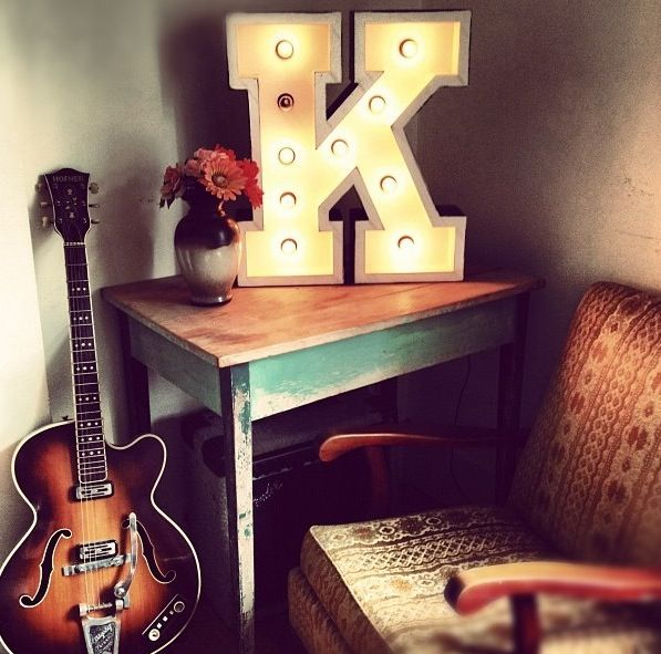 Letter Light by Fromage la Rue from the vegas Boneyard range. http://www.fromagelarue.com.au/product/e-marquee