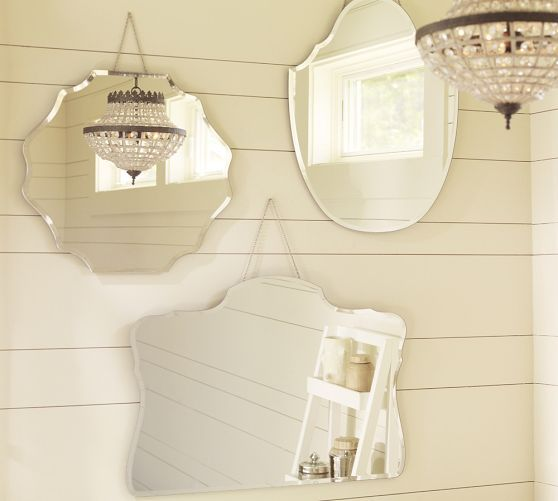 Ooooh yes the long one please Piper Frameless Mirrors | Pottery Barn