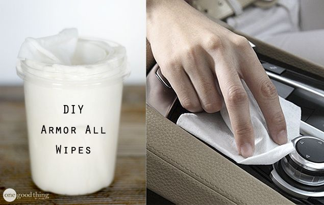 DIY Armor All wipes   http://www.onegoodthingbyjillee.com/2015/01/diy-armor-wipes.html?utm_source=getresponse&utm_medium=email&utm_campaign=onegoodthing&utm_content=%5B%5Brssitem_title%5D%5D