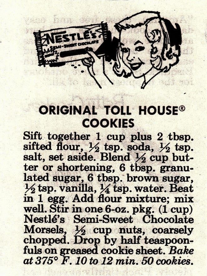 Image result for vintage recipes 1950s