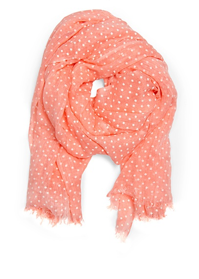 dotted scarf mango