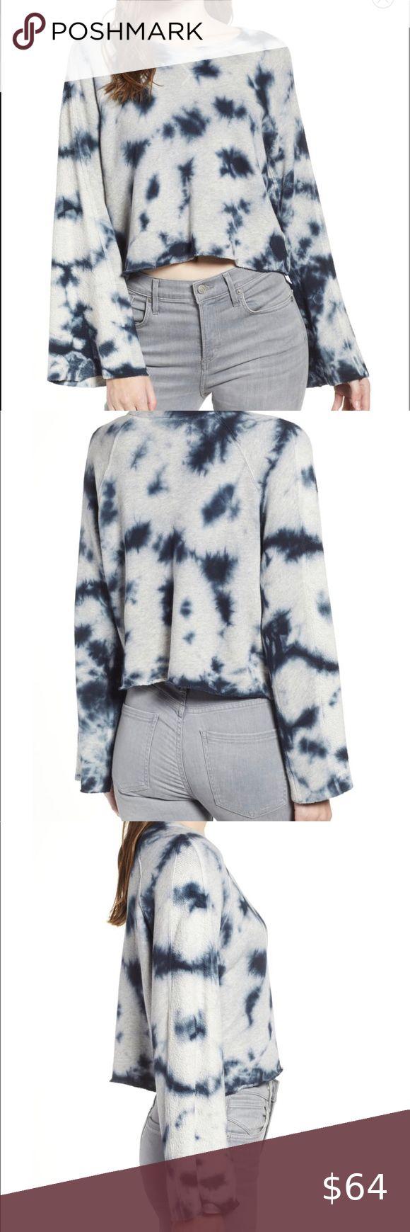 Nwt Splendid Night Haze Tie Dye Crop Sweatshirt Crop Sweatshirt Clothes Design Fashion [ 1740 x 580 Pixel ]