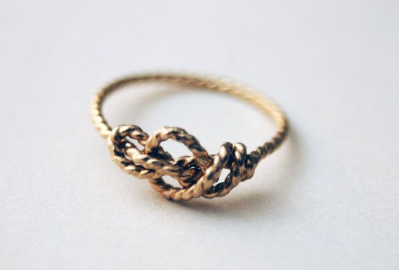 Sailor's Love Knot ring. Handknotted. Handformed. Gold on Etsy, $125.00
