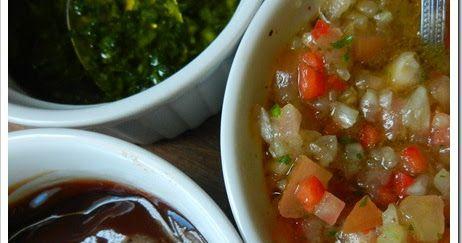 Para los amantes de las parrilladas, el día de hoy les traigo las 3 salsas típicas o clásicas para usar con las carnes, la primera origi...