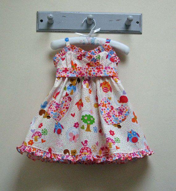 EASY INTERMEDIATE PATTERN Girls Dress Pattern. The loveliest little girls dress! Cute and sunny summer frock. This breezy little dress can be