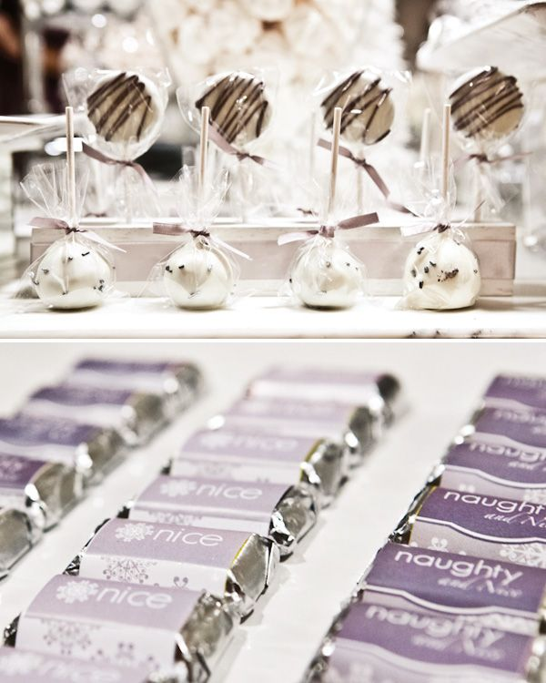 Naughty & Nice Winter Shimmer Dessert Table // Hostess with the ...