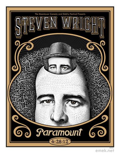 Steven Wright Poster by Emek.  Loved Steven Wrights humor for years.