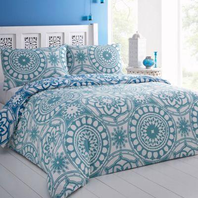 Blue 'Asilah' bed linen at debenhams.com
