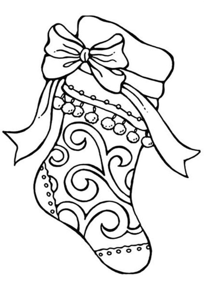 Christmas Stocking Coloring Pages For Kids Christmas Tree Coloring Page Valentines Day Coloring Page Coloring Pages