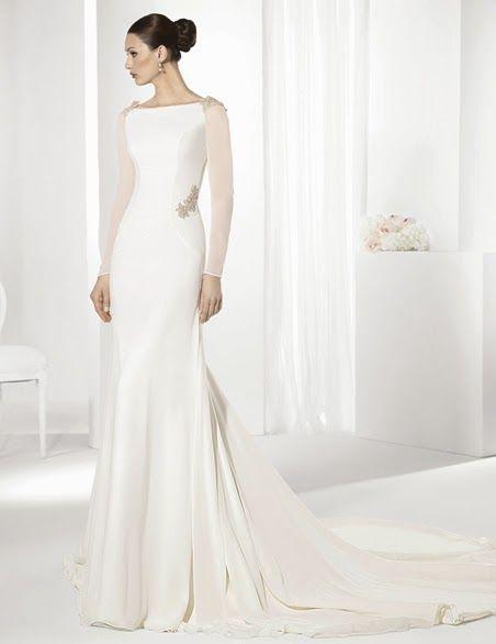 10 vestidos de novia de manga larga 2015   Preparar tu boda es facilisimo.com
