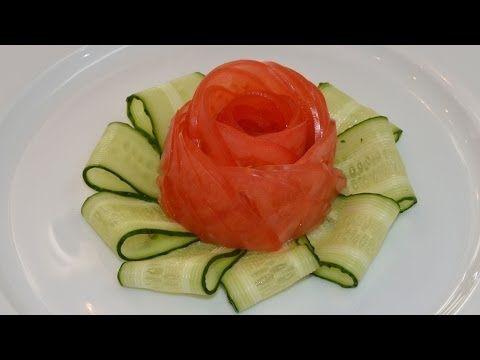 ▶ Роза из помидора.