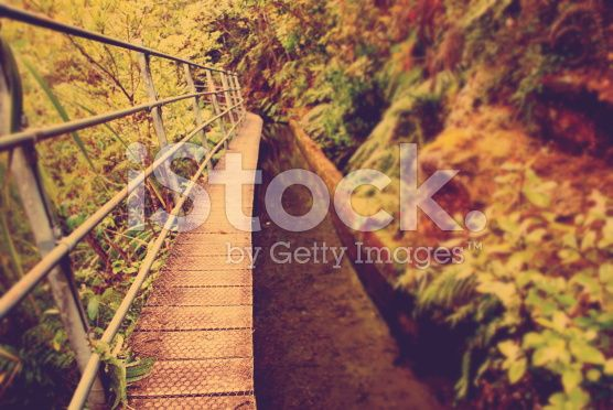 Boardwalk, Old Style Filter royalty-free stock photo