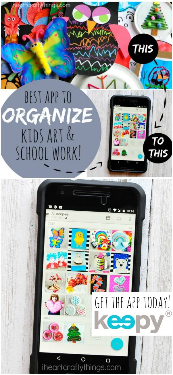 Sponsored: Using the Keepy app is a great tip for how to organize kids artwork and school work. Keep a digital copy of kids artwork and make a photo book of them.