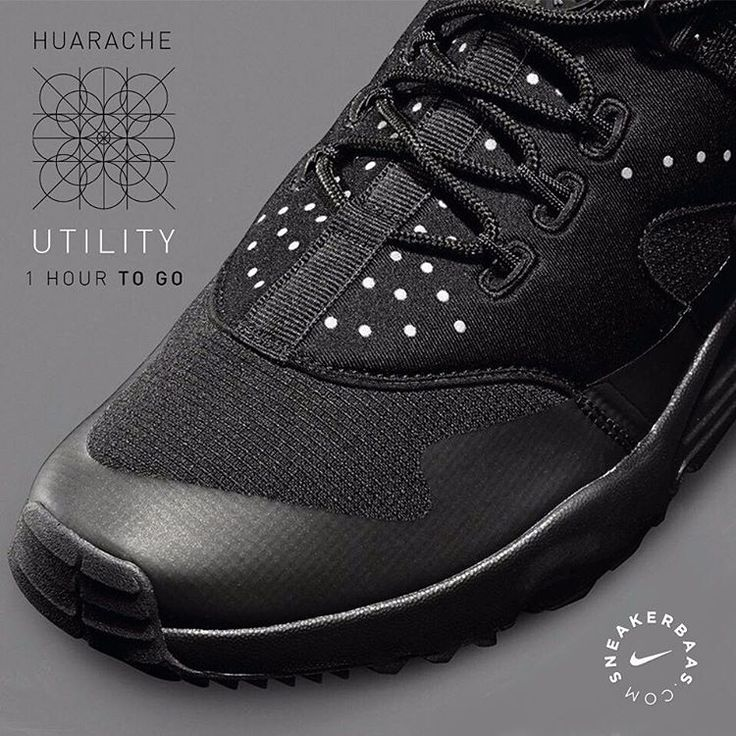 #nike #nikeair #nikeairhuarache #huarache #huaracheutility #sneakerbaas #baasbovenbaas  Nike Air Huarache Utility- The classic Huarache gets a not-so-classic makeover, providing the fashion-game with a new, fresh look on sneakers. A dotted pattern makes his way on the ''stealth'', black upper, leaving competitors in the dust!  One hour to!   Priced at 129.99 EU   Men Sizes 40.5 - 45 Eu