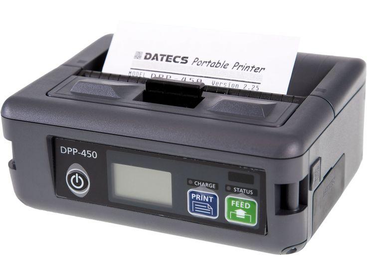 Imprimanta termica mobila DPP 450 BT Datecs are viteza mare de prinatare si poate tipari usor atat text cat si imagini grafice, coduri de bare, logo-uri, in functie de necesitatile utilizatorului.
