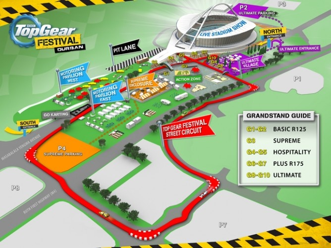 A guide to help you find your way around the Top Gear Festival Site.