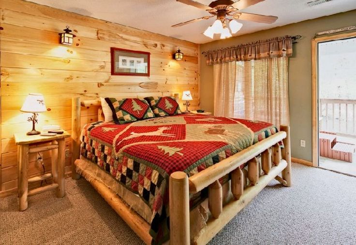 Make Your Superior Rustic Bedroom Decorating Ideas Cabin River Retreat The