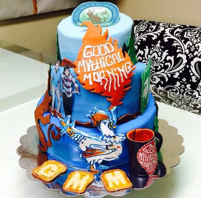 Rhett and Link Good Mythical Morning Custom Cake I WANT IT.