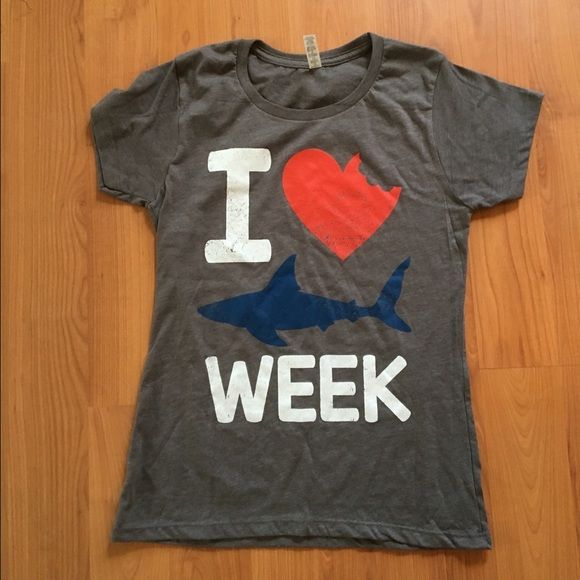 Shark week novelty top Where this tshirt while etching shark week! Groupon Tops Tees - Short Sleeve