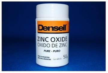ÓXIDO DE ZINC • Contiene: Polvo x 50, 100 y 250 gramos - Cod 6650-50/ 50-100/ 50-250