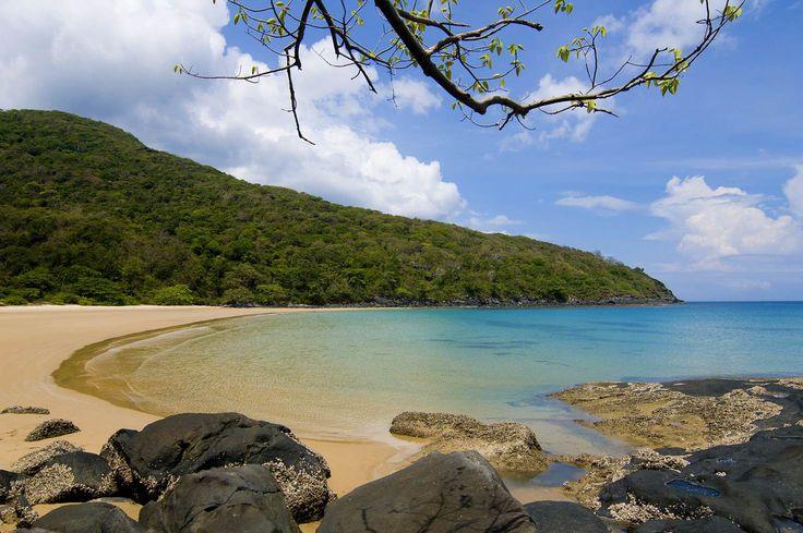 Beautiful Dam Trau beach in Condao island, Ba Ria province, Vietnam