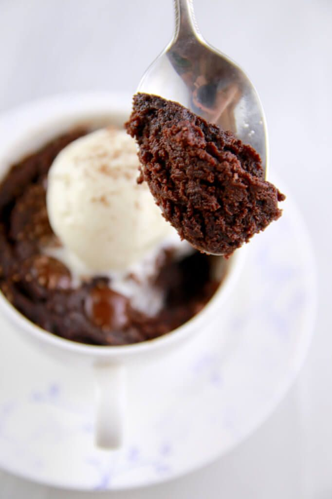 1 Minute Microwave Mug Brownie- incredibly brownie recipe that you have got to try. (Dairy Free Recipe)