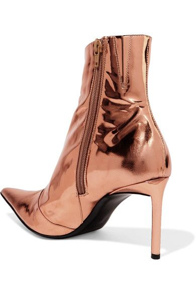 Haider Ackermann - Metallic Leather Ankle Boots - Copper - IT