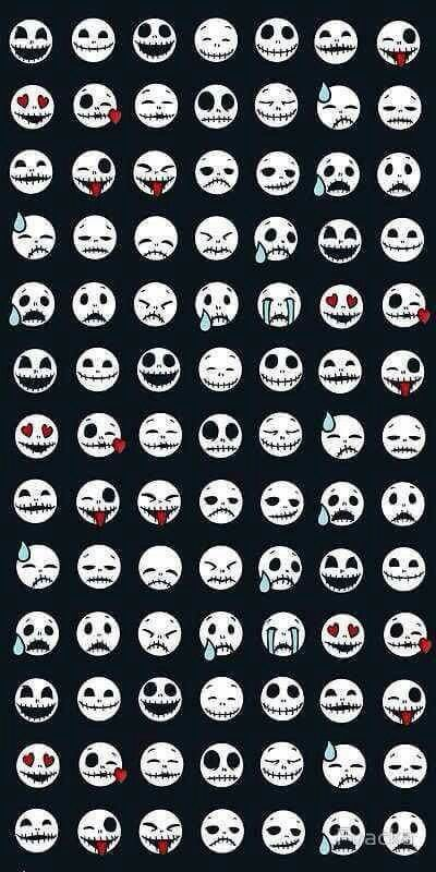 Jack skellington emojis wallpaper