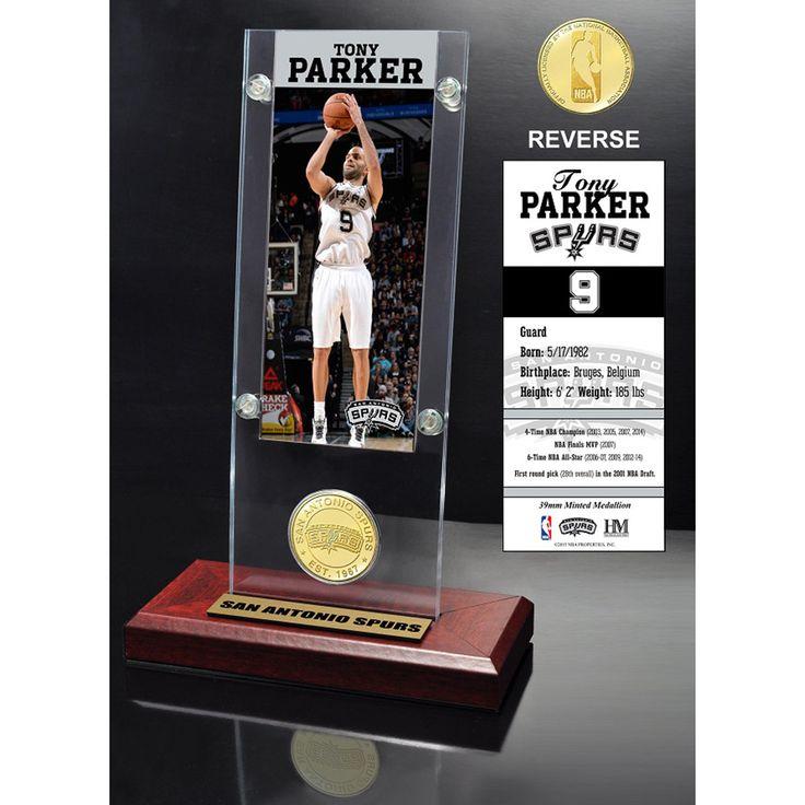 Tony Parker Ticket & Bronze Coin Desktop Acrylic