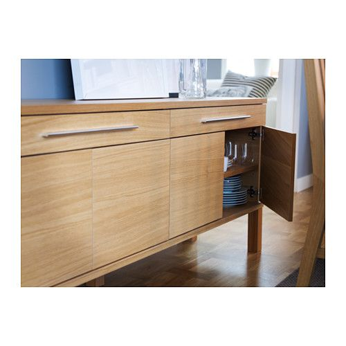 BJURSTA Skjenk - eikefiner - IKEA