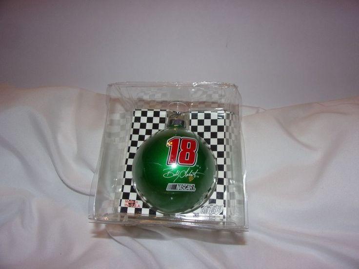 Nascar Collectibles Bobby Labonte Green Glass Christmas Ball #18 / New #JoeGibbsRacing