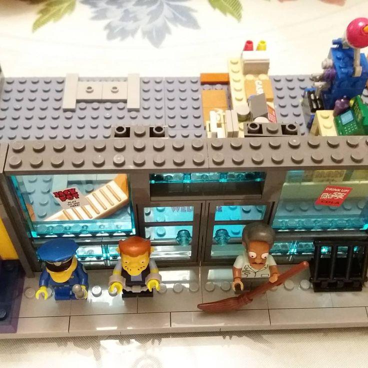 KWIK-E-MART LEGO building set work in progress.  #simpsons #lego #kwik-e-mart