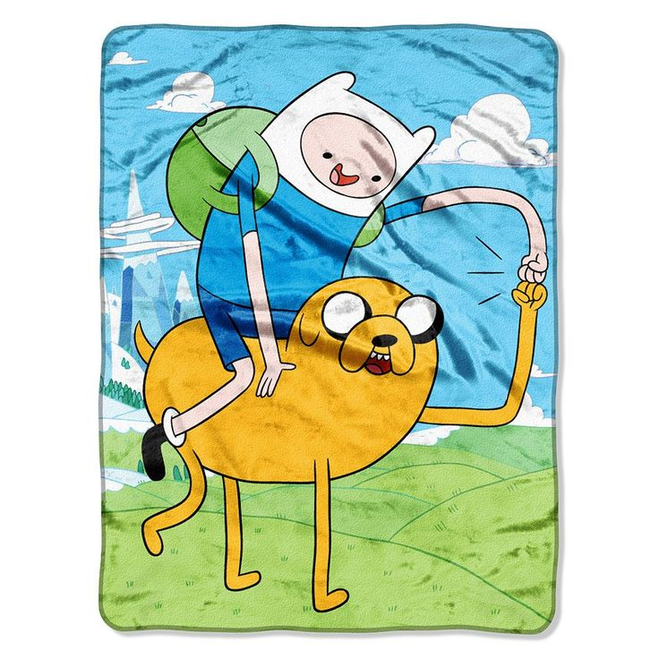 Cartoon Network Adventure Time Fist Pump Throw, Multicolor