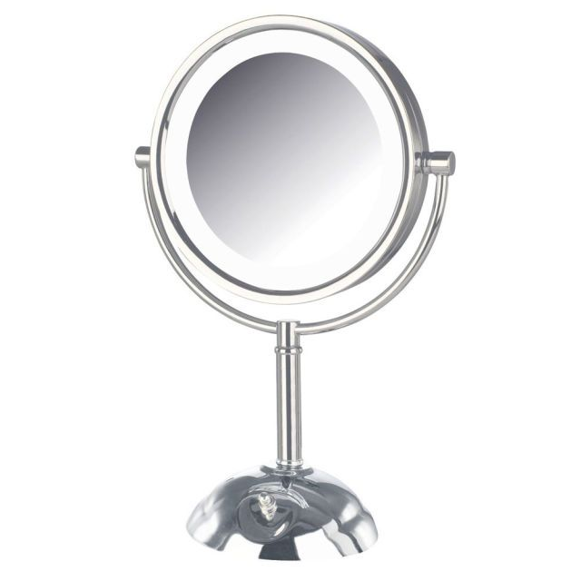 Makeup Mirrors That Will Make You Look Flawless. This beauty delivered the highest scores for clarity. Testers loved the three settings (cool to warm) — the most of all our winners — and deemed the 8.5-inch mirror the perfect size. Magnifies to 8X, which women found optimal (10X was too strong for many). A little pricey, but worth it.  Jerdon LED Lighted Vanity Mirror 8X HL8808CL, $100 at Amazon.com