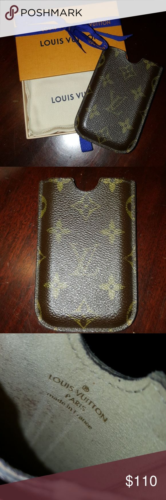 Louis Vuitton 3G phone case. Great condition. Comes with Box, ribbon and dust bag. I used it for business cards! Louis Vuitton Bags Wallets
