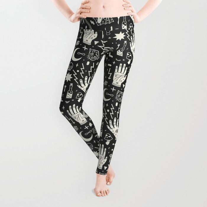 """""""Witchcraft"""" Leggings by LordofMasks on Society6."""