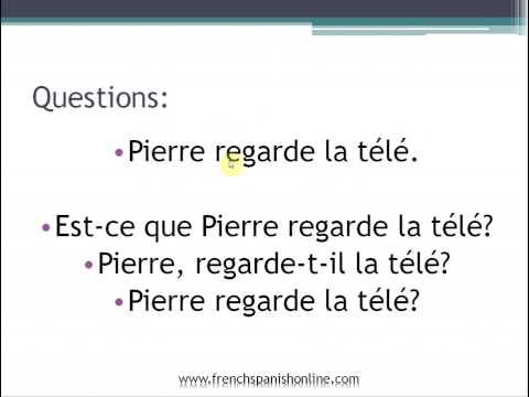 ask questions in french: basic French - YouTube