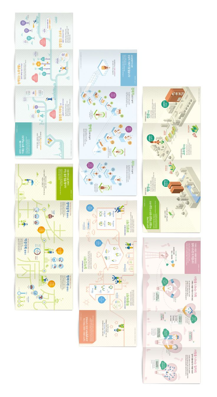 INFOGRAPHICS - 교보생명 리크루팅 리플렛 - 브랜딩/편집