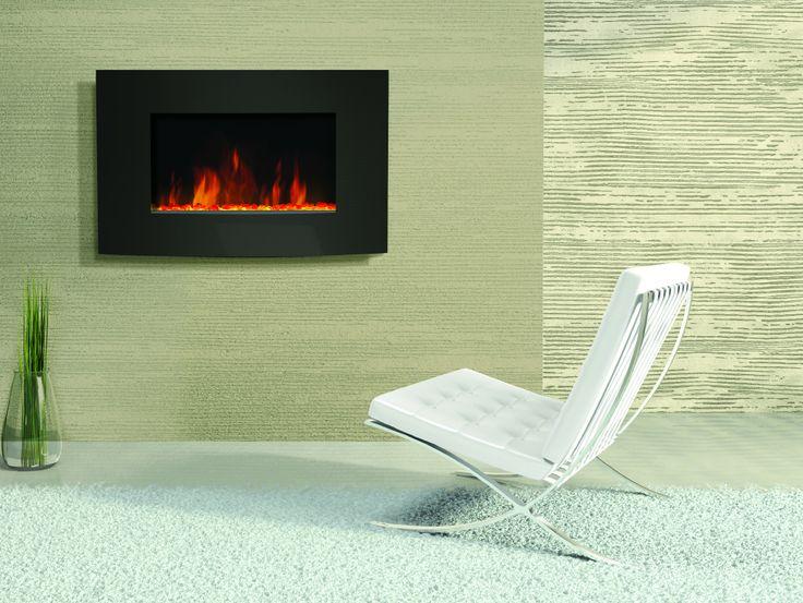 Amantii Horizontal Convex Electric Wall Mount Fireplace | Fireplaces ...