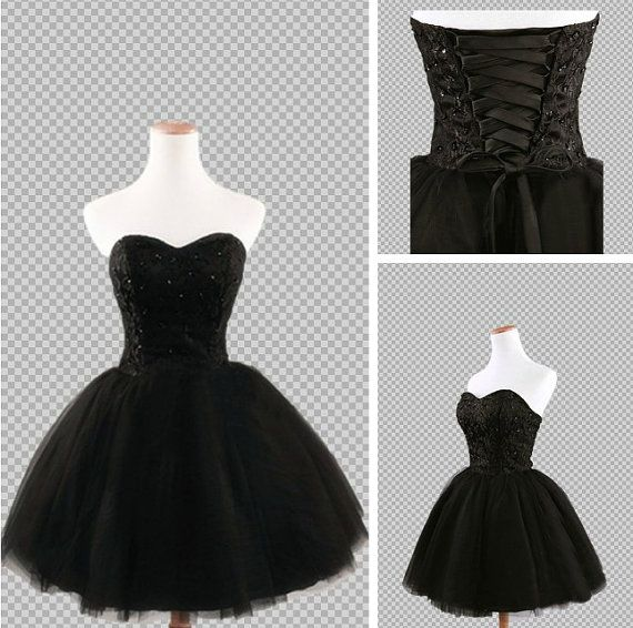 Ball Gown Black Short Mini Prom Dresses Short by MatinDresses, $124.99 Now I just need a reason to wear it!